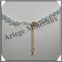 AIGUE MARINE - Collier Perles 6 mm - 49 cm - M003