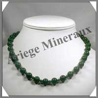 JADE - Collier Perles 4 et 10 mm en alterné - 47 cm - C003