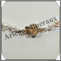 PERLES BLANCHES - Collier Perles 4 mm - 45 cm - N001